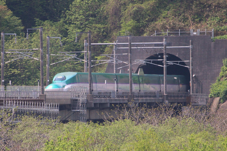20160517北海道新幹線(青函トンネル知内町側)