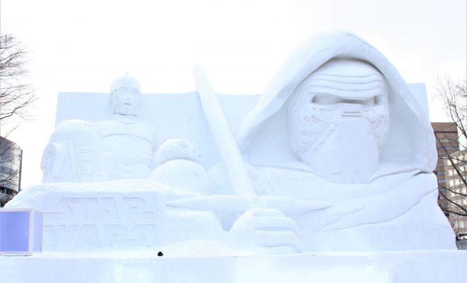 第68回さっぽろ雪まつり2017-大通10丁目会場-白いスターウォーズ