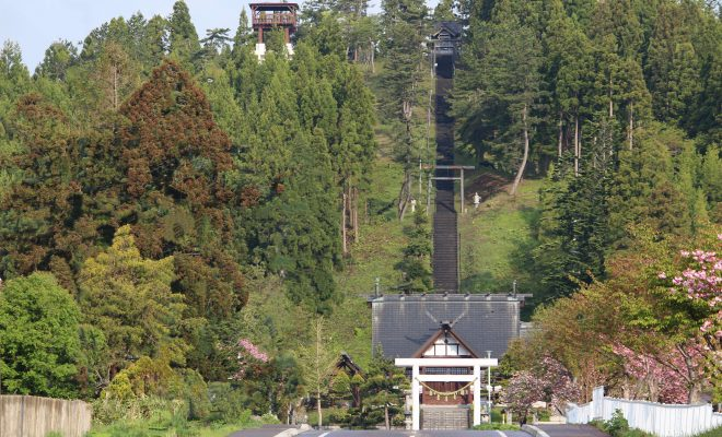 重内神社と展望台1