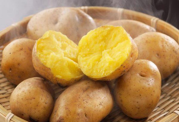 インカのめざめ調理例(蒸かしいも)