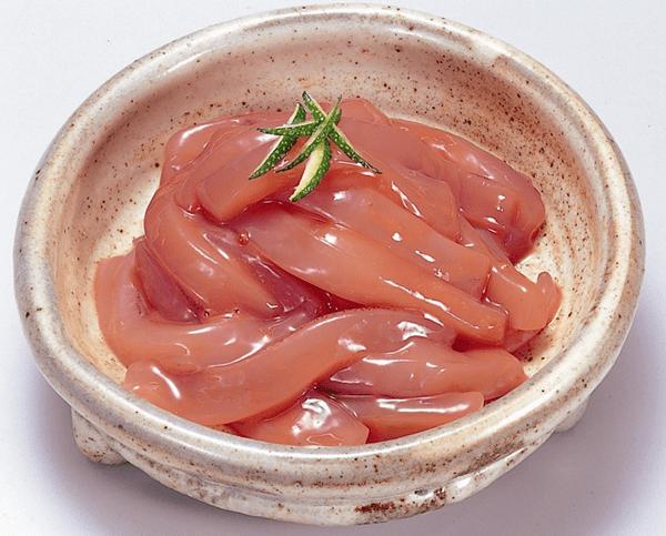 函館 竹田食品 手造りいか塩辛の盛り付け画像